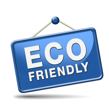 eco friendly product with bio label guaranteed 100% natural and organic. Ecological and biological production sticker button or icon. Stock Photo - 23101156