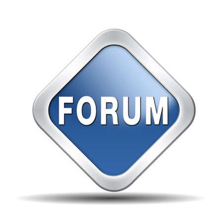forum internet website www logon login discussion Stock Photo - 23101168