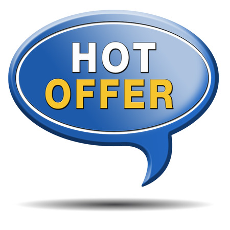 bargain for: hot offer icon for online internet web shop concept. Webshop shopping sales button announcing bargain for low and best price with the best value for you money.