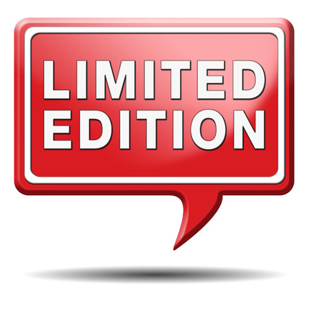 limited and exclusive edition or offer. Restricted and temporal promotion icon or sign. photo