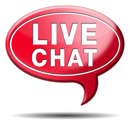 Live Chat Icon. Chatting Online Button. Stock Photo, Picture And ...