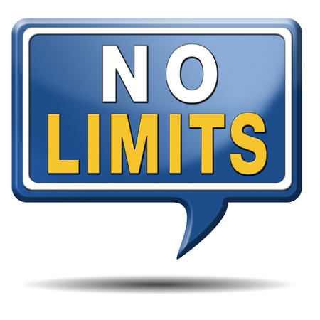 no boundaries: no limits or boundaries unlimited and without restrictions icon or sign