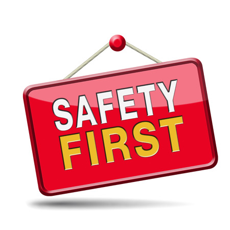 safety first rules for security at work and safe and healthy life, risk management icon or banner photo