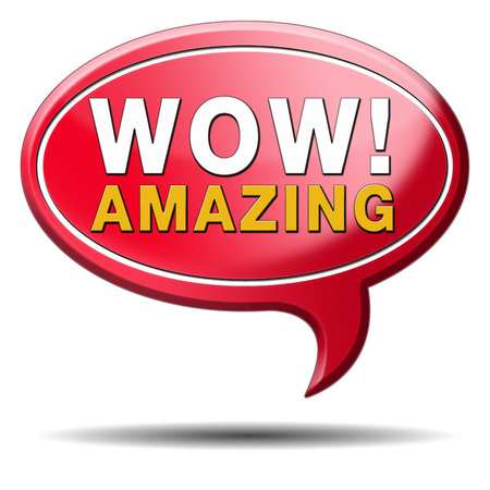 factor: mind blowing amazing and awesome wow factor icon.