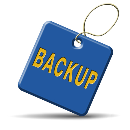 Backup data and software on copy in the cloud on a harddrive disk on a computer or server for file security. Extra folder on external harddrive for document recovery. Stock Photo - 23187010