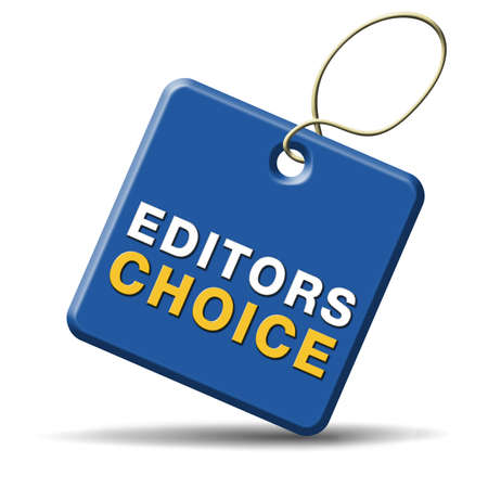 editor: editors choice or award sign or icon best editor selection and editor Stock Photo