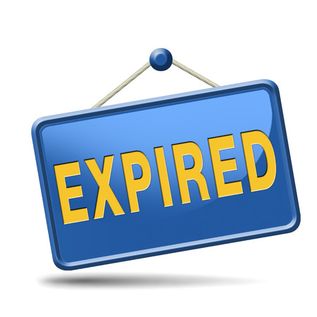 expired: expired sign expiration date for expired product or food Stock Photo