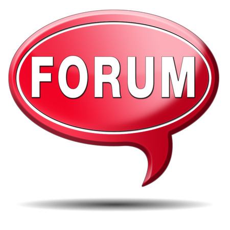 forum internet website www logon login discussion Stock Photo - 23187038