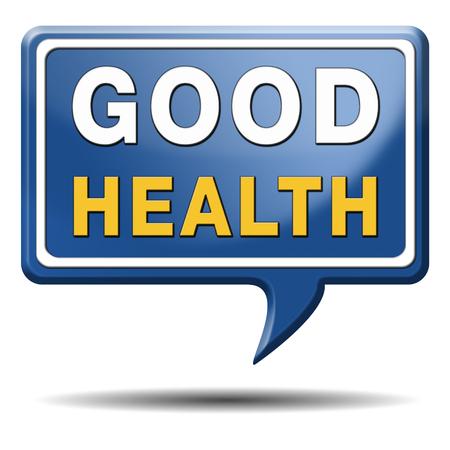 buena salud: vida sana buena salud y energ�a vitalidad mente sana en vivo y bot�n con el icono del cuerpo