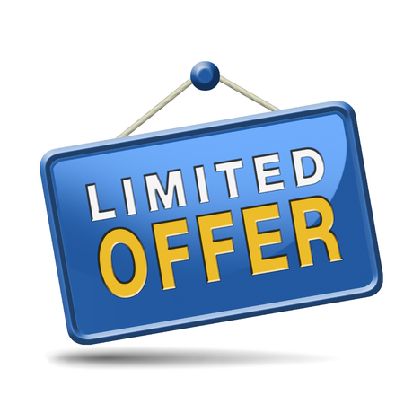 limited offer edition or stock webshop icon or web shop sign  photo