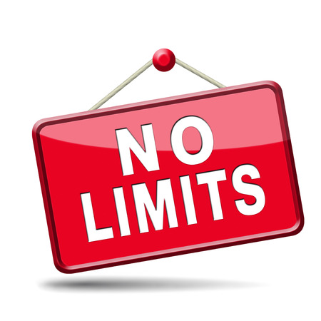 boundaries: no limits or boundaries unlimited and without restrictions icon or sign