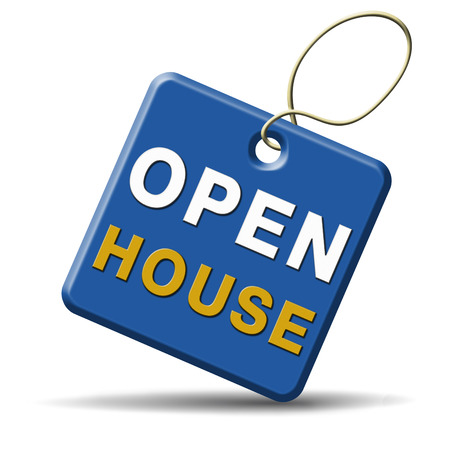 Open house sign or icon don't buy or rent a house before you visit the real estate or model house photo