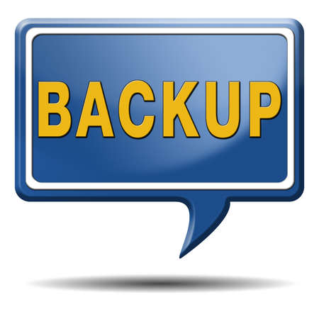Backup data and software on copy in the cloud on a harddrive disk on a computer or server for file security Stock Photo - 23236679