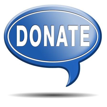 generoso: donar y dar a los fondos de ayuda de la caridad elevar dar y aumentar la donaci�n de dinero