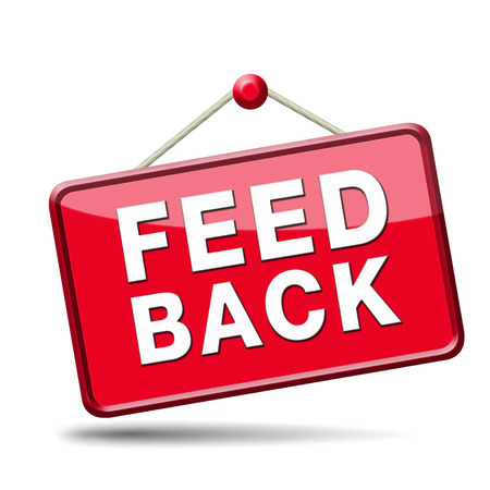 feedback icon. Testimonials and comments help to survey customer satisfaction photo