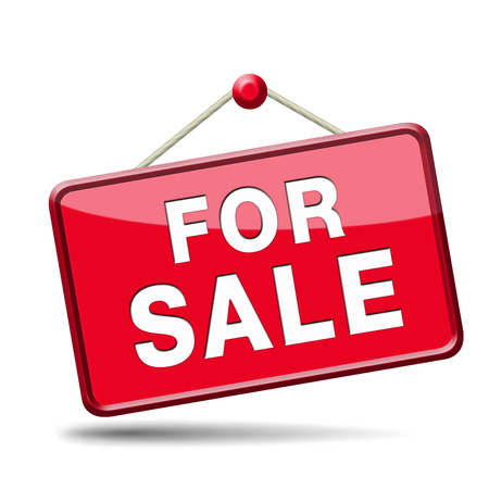 apartment or house for sale banner, selling a room or flat or other real estate sign. Home to let icon. Stock Photo - 23236942