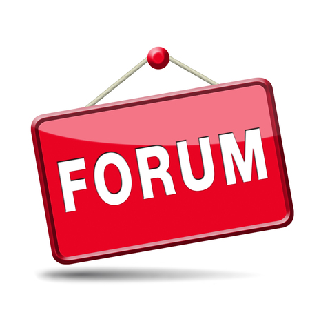 forum internet website www logon login discussion Stock Photo