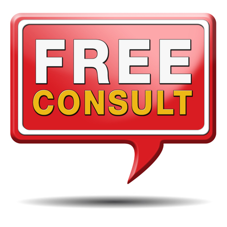 answers highway: free consultation icon, Gratis consultation service and advice.  Stock Photo