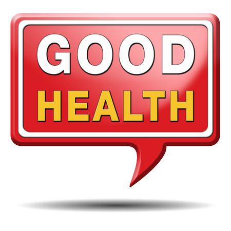 good health: gezond leven een goede gezondheid en vitaliteit energie levende gezonde geest en lichaam pictogramknoop