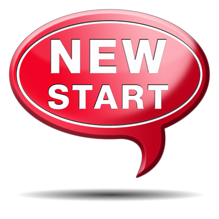 new start or chance back to the beginning and do it again button icon or sign photo