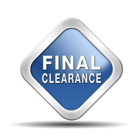 webshop: final clearance and big stock sale icon or sign for webshop sales or web shop button Stock Photo