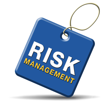 health management:  risk management and insurance policy safety first sign or icon