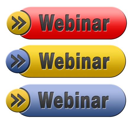webinar: webinar online internet web conference meeting or workshop live video chat
