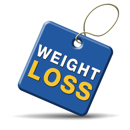 weight loss icon sign or button lose extra pounds by sport or dieting losing kilos photo