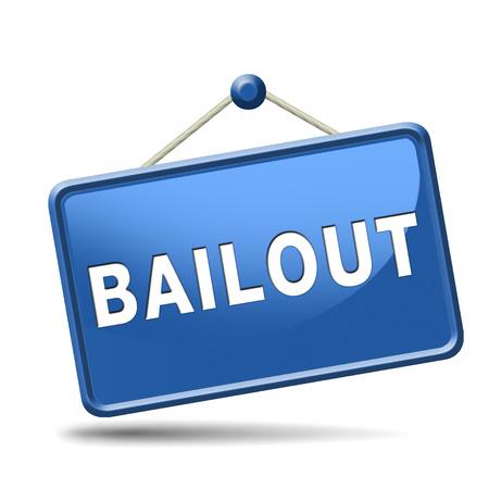 rescate o crisis económica y la recesión quiebra financiera icono de la muestra o el botón