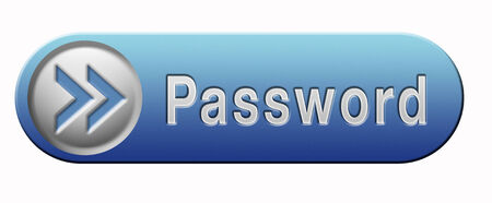 Password button data protection by using strong safe passwords recover and change for security and safety Stock Photo - 23381453