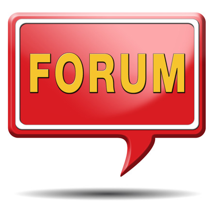 forum internet website www logon login discussion Stock Photo - 23500107