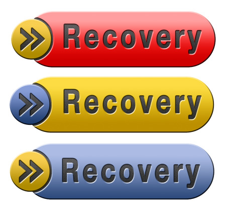 data recovery: Recovery recover lost data button or icon