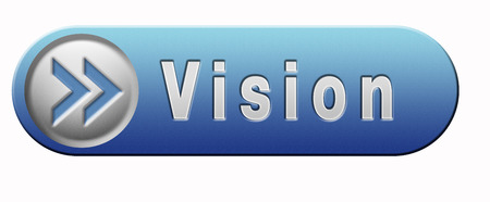 vision or our policy in business strategy or view on the company blue button or icon photo