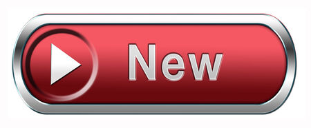 newest: New button or icon newest brand of product availabel now Stock Photo