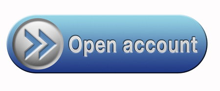 open account button or icon membership subscription and registration photo