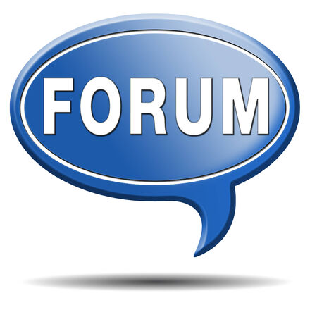 forum internet website www logon login discussion Stock Photo - 23545475