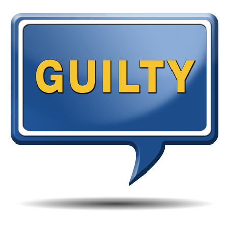 convicted: guilty guilt and convicted for a crime in court