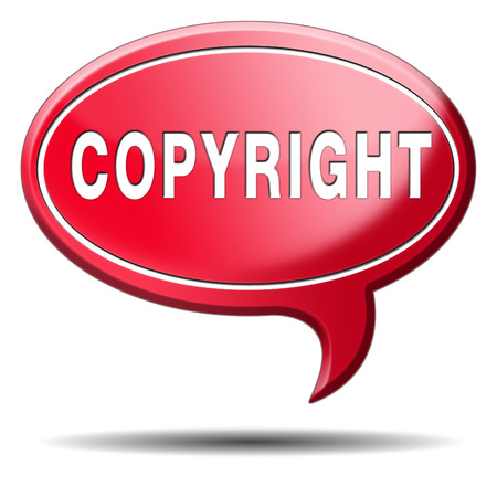 registered: copyright protected by law registered trademark and patent protection Stock Photo