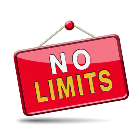 unlimited: no limits or boundaries unlimited and without restrictions icon or sign