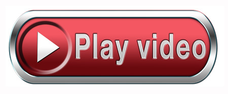 live stream: Video play clip or watch movie online or in live stream, multimedia button banner or icon