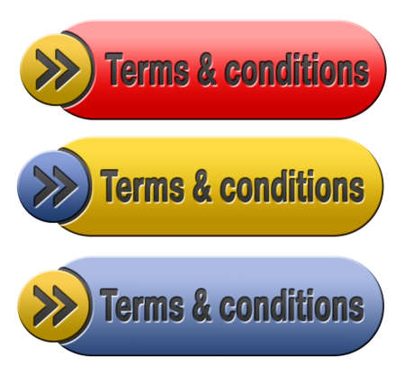 use regulation: Terms and conditions user guide and rules icon button or sign