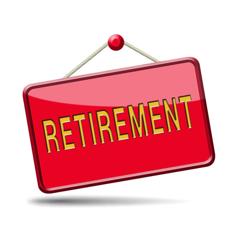prendre sa retraite: d�part � la retraite avant la retraite ou fonds de planifier l'�ge d'or Banque d'images