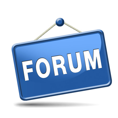 forum internet website www logon login discussion Stock Photo - 23729132