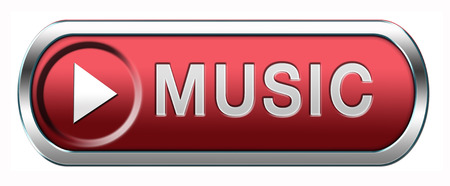 listen live stream: Music button or icon to listen live stream or for download Stock Photo