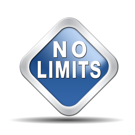 restrictions: no limits or boundaries unlimited and without restrictions icon or sign