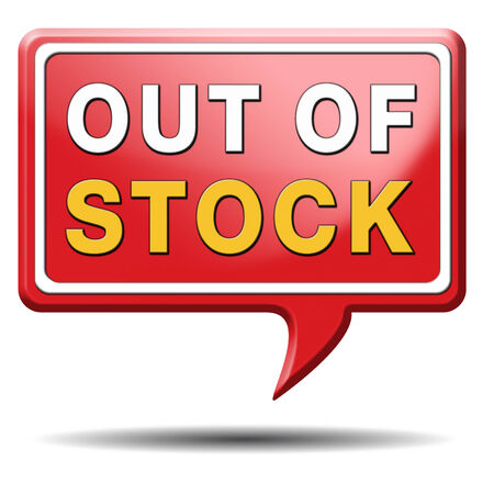 out of stock icon or sign limited edition and final clearance banner Stock Photo - 23729150