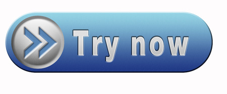 Try now button or blue icon free trial  photo