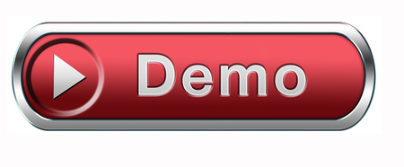 demo: Demo download button or icon for free trial demonstration Stock Photo