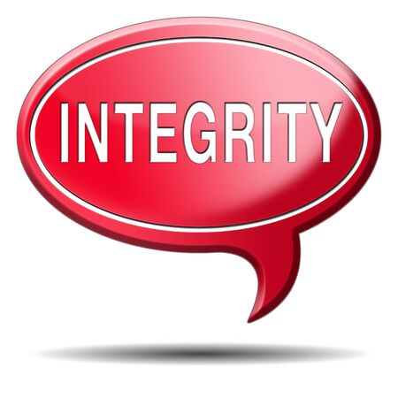 integrity authentic and honest and reliable guidance integrity button integrity icon trust with text and word concept Stock Photo - 23812997