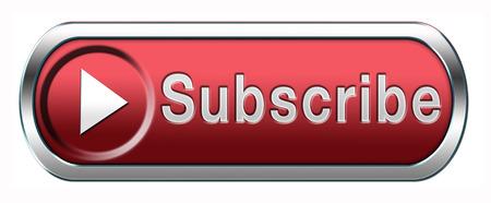 Schrijf u online gratis abonnement en lidmaatschap voor de nieuwsbrief of blog Schrijf u vandaag in knop of pictogram Stockfoto